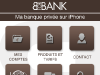 BforBank Application iPhone : Menu