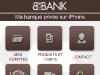 BforBank Application iPhone : Menu