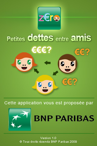 bnp paribas les bons comptes entre amis application iphone banques en ligne mobile. Black Bedroom Furniture Sets. Home Design Ideas