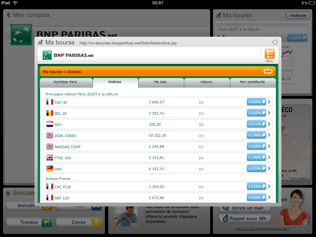 bnp paribas   sur l u2019ipad avec l u2019application  u0026quot mes comptes u0026quot