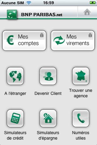 bnp paribas l application mes comptes pour iphone banques en ligne mobile. Black Bedroom Furniture Sets. Home Design Ideas