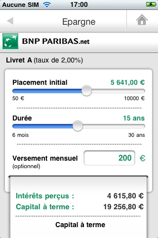 bnp paribas l application mes comptes pour iphone banques en ligne mobile. Black Bedroom Furniture Sets. Home Design Ideas