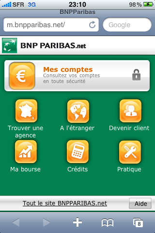 bnp paribas site de la banque pour t l phones mobiles banques en ligne mobile. Black Bedroom Furniture Sets. Home Design Ideas