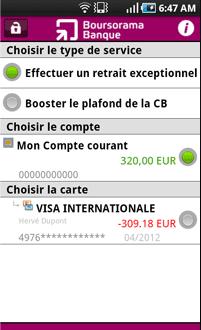Boursorama banque application android mes comptes banques en ligne mobile - Plafond compte courant credit mutuel ...