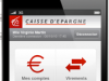 CAISSE D'EPARGNE : Application iPhone