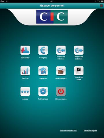 cic application bancaire disponible sur ipad banques en ligne mobile. Black Bedroom Furniture Sets. Home Design Ideas