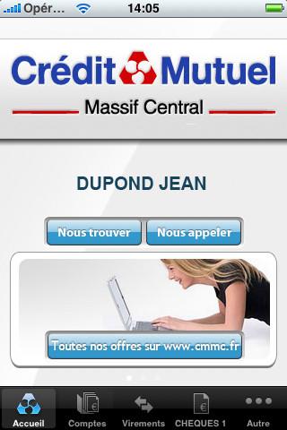 compte du crédit mutuel