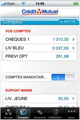 Application Credit Mutuel Iphone