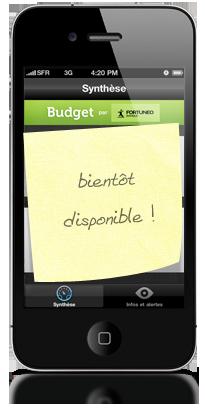 Bientôt disponible !  | http://banques-en-ligne.mobi/2012/fortuneo-budget-bientot-sur-iphone/