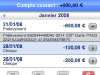 SOCIETE GENERALE - Site Mobile : comptes 2