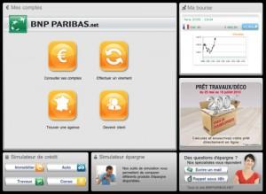 bnp paribas sur l ipad avec l application mes comptes banques en ligne mobile. Black Bedroom Furniture Sets. Home Design Ideas
