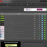 Cartes Bancaires Gratuites : Le site mobile