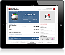 SOCIETE GENERALE : Application iPad