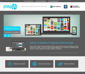 Capture d'écran de l'accueil du site Paylib.fr